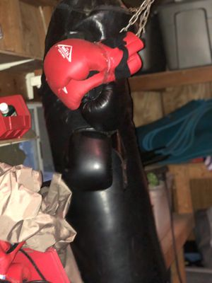 Century boxing bag. With gloves for Sale in Burnsville, MN