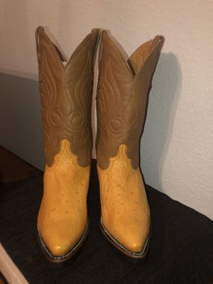 Ostrich Boots Men Size 8 for Sale in Grand Prairie, TX
