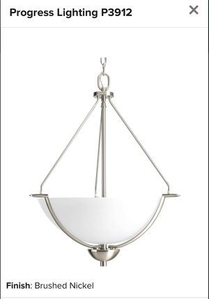 "Progress Lighting P3912-20 Brushed Nickel Bravo 21"" Wide 3 Light Pendant for Sale in Clarksville, MD"