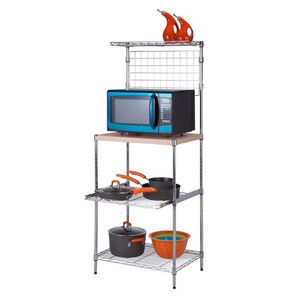 Kitchen Shelving Unit Microwave Toaster Storage Space Wood Metal Rack for Sale in Santa Fe, NM
