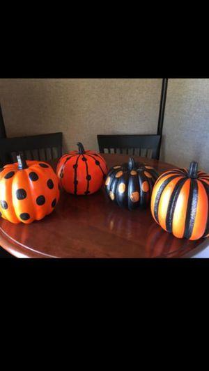 Four decorative pumpkins for Sale in Hinsdale, IL