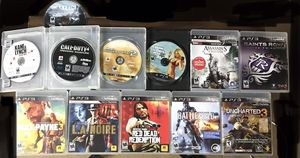 LOT OF 12 PS3 Games!GTA 5,Saints Row,Call Of Duty 2 & 4,Red Dead Redemption,Asassins Creed 3,Max Payne 3,Uncharted 3,Battlefield 4,LA Noire,Kane & Ly for Sale in Red Bank, NJ