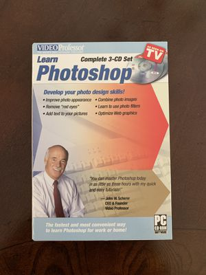 Learn Photoshop: Software Video Professor 3 CD Set Lessons 1-3 for Sale in Lynchburg, VA