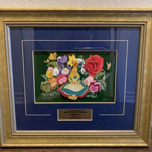 Disney Alice In Wonderland 4 Piece Framed Pin Set for Sale in Los Angeles, CA
