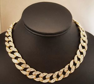 """14K Yellow Gold or Silver Plated Mens Brass Cubic Zirconia 18"""" or 20"""" Cuban Choker Chain for Sale in Las Vegas, NV"""