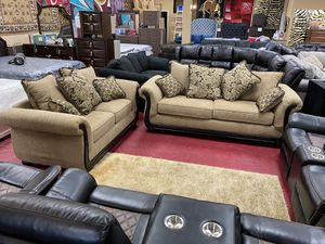 Furniture living room sofa loveseat finance available 1486 West Buckingham RD Garland, TX 75042 for Sale in Garland, TX
