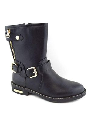 New Black leather ankle boots flat buckle combat boots for Sale in West Covina, CA