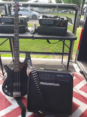 Bass guitar and amp for Sale in San Dimas, CA