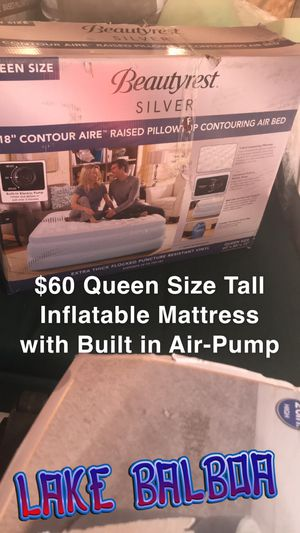 Queen size tall inflatable mattress for Sale in Los Angeles, CA