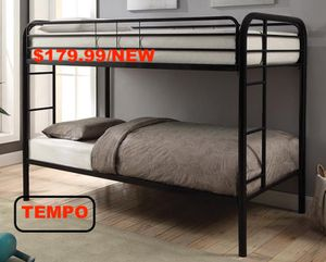 Twin over Twin Bunk Bed, Metal for Sale in Santa Fe Springs, CA