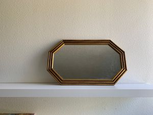 Wooden bamboo octagon mirror for Sale in Claremont, CA