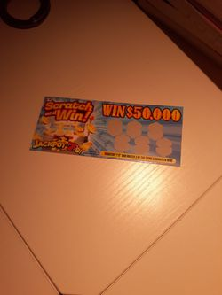 Fake Lottery Ticket  for Sale in Silver Spring, MD