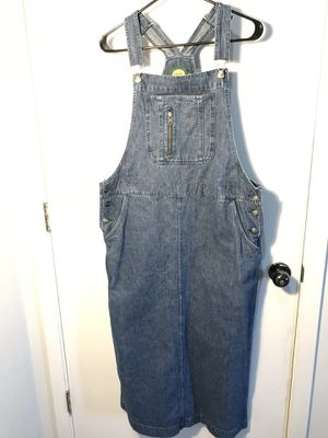 Cabela's vintage rare bib dress denim overalls women's large l for Sale in Aurora, CO