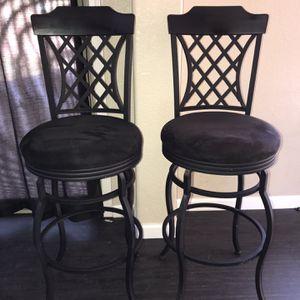 2 Beautiful Black Bar Stools for Sale in Surprise, AZ