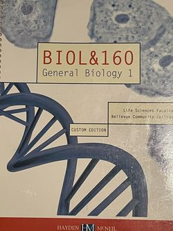 BIOL&160 General Biology 1 Bellevue Community College Custom Edition for Sale in Renton,  WA