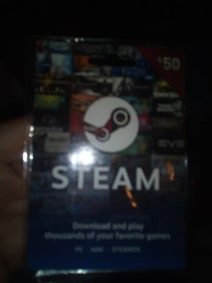 $50 STEAM PLAY CARD for Sale in Fresno, CA