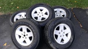 5 Jeep Wheels and Tires 255/75 17 for Sale in Waterford, VA