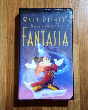 Walt Disney's Masterpiece Fantasia (VHS, 1991), Brand New and Factory Sealed for Sale in Douglasville, GA