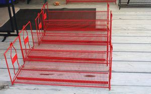 Rare 4 ea 1980 Enjoy Coca-Cola Classic Wire Rack Store Display Shelves for Sale in Garland, TX