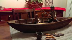 Fisherman in boat diorama for Sale in North Bend, WA