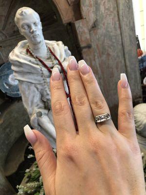 18K white gold natural old diamonds ring for Sale in Fresno, CA