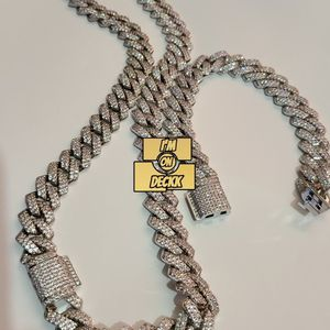 AAA quality 🚨🚨🚨 14k White gold plated Cuban link prong chain set 🚨🚨🚨 for Sale in Miami, FL
