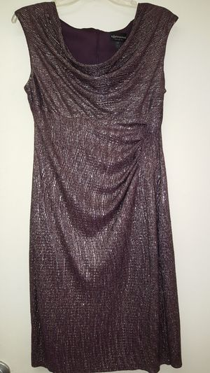 Connected apparel purple gold dress size 10p for Sale in Newark, CA