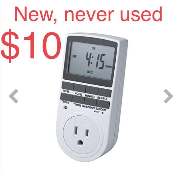 BonyTek 7-Day LCD Digital Programmable Timer Switch, Energy-Saving Plug-in Timer Socket Outlet for Indoor Home Grow Tent Lighting Blower Aquarium Lam