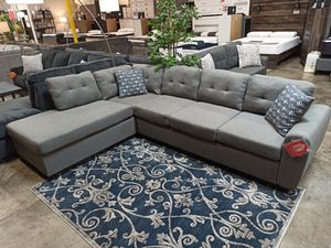 Fabric Sectional Sofa, Grey for Sale in Santa Fe Springs, CA