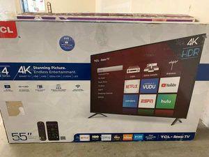 """Brand New TCL ROKKU TV 55"""" inch. Open Box w/ warranty GW for Sale in Garden Grove, CA"""