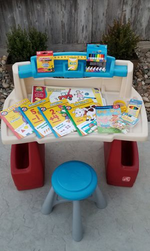 Step 2 Deluxe Art Master Desk, Stool & Lots of Brand New Goodies for Sale in Manteca, CA
