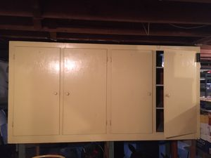 Free large utility cabinet for basement or garage for Sale in East Providence, RI