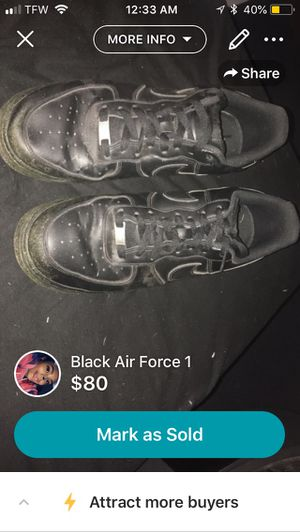 Black Air Force 1 for Sale in East Peoria, IL