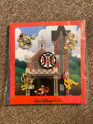 Authentic Disney fire fighter pin set for Sale in CORP CHRISTI, TX
