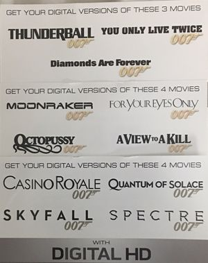 Digital James Bond Collection - Sean Connery, Roger Moore, Daniel Craig for Sale in Portland, OR