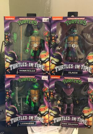 New Neca Turtles in time action figures in stock for Sale in Los Angeles, CA