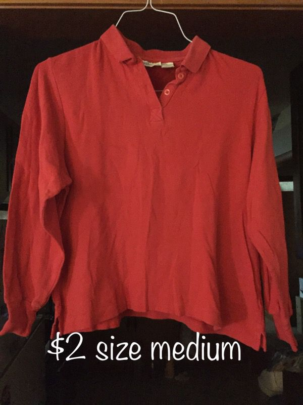 Long sleeved shirt size medium