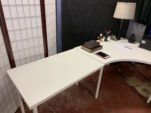 Ikea Linnmon Corner Desk And Extension - White - for Sale in Lauderdale Lakes, FL