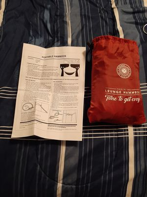 Hammock with instructions(Open to offers) for Sale in Morgantown, WV