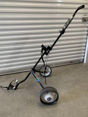 Foldable 2 Wheel Push Pull Golf Club Cart Trolley Swivel Steel Lightweight Black for Sale in Lewisville, TX
