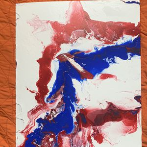 Art, Rare Red White And Blue Painting for Sale in Catlett, VA