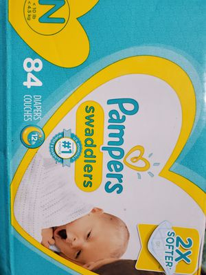 Unopened Newborn diapers 84 count Pampers Swaddlers for Sale in Palo Alto, CA