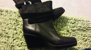 TIMBERLAND SIZE 11 BLACK LEATHER WEDGE BOOTS for Sale in Hyattsville, MD
