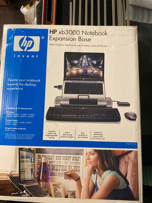 HP XP 3000 notebook expansion base with wireless keyboard and wireless optical mouse for Sale in Beverly Hills, CA