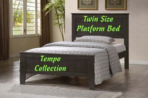 NEW, Twin Wood Platform Bed, Gray, SKU# 7581-GR-TWIN for Sale in Westminster, CA