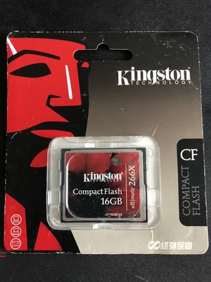 Kingston compact flash 16gb for Sale in Dallas, TX
