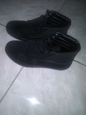Selling brand new black vans size 9.5 in half in men best offer hmu for Sale in Palmdale, CA