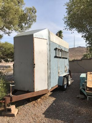 Enclosed trailer, 5'x8'x16', 8 feet tall. Custom tool closet on front of trailer. Metal lockers inside trailer. Two heavy duty job boxes for Sale in Las Vegas, NV