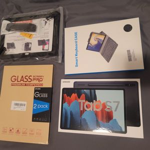 """Brand New Samsung Tab S7 11"""" 256GB Wifi Android Tablet Bundle Keyboard, Case, And Glass Protector for Sale in Sacramento, CA"""