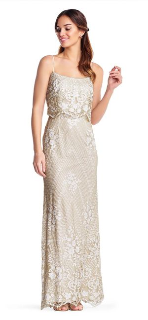 (Unworn) Adrianna Papell/BHLDN Arden Dress - embroidered sequin dress - wedding prom formal gown for Sale in Centreville, VA